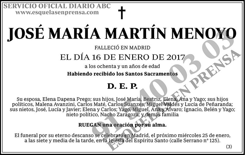 José María Martín Menoyo